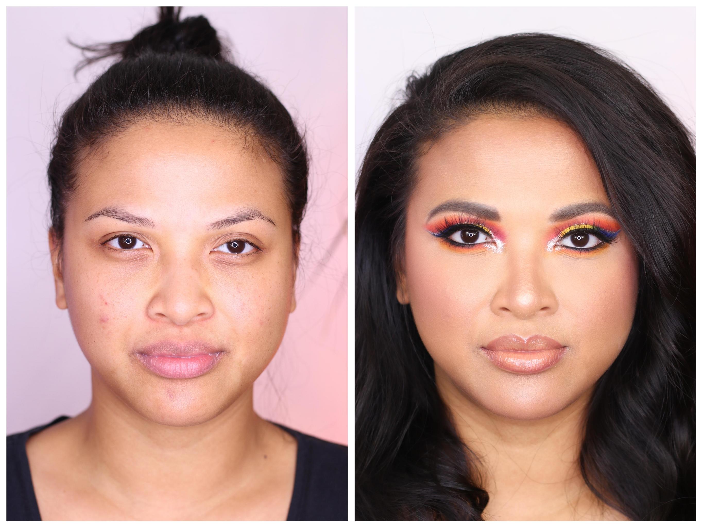 avant après makeup Lyon maquillage studio