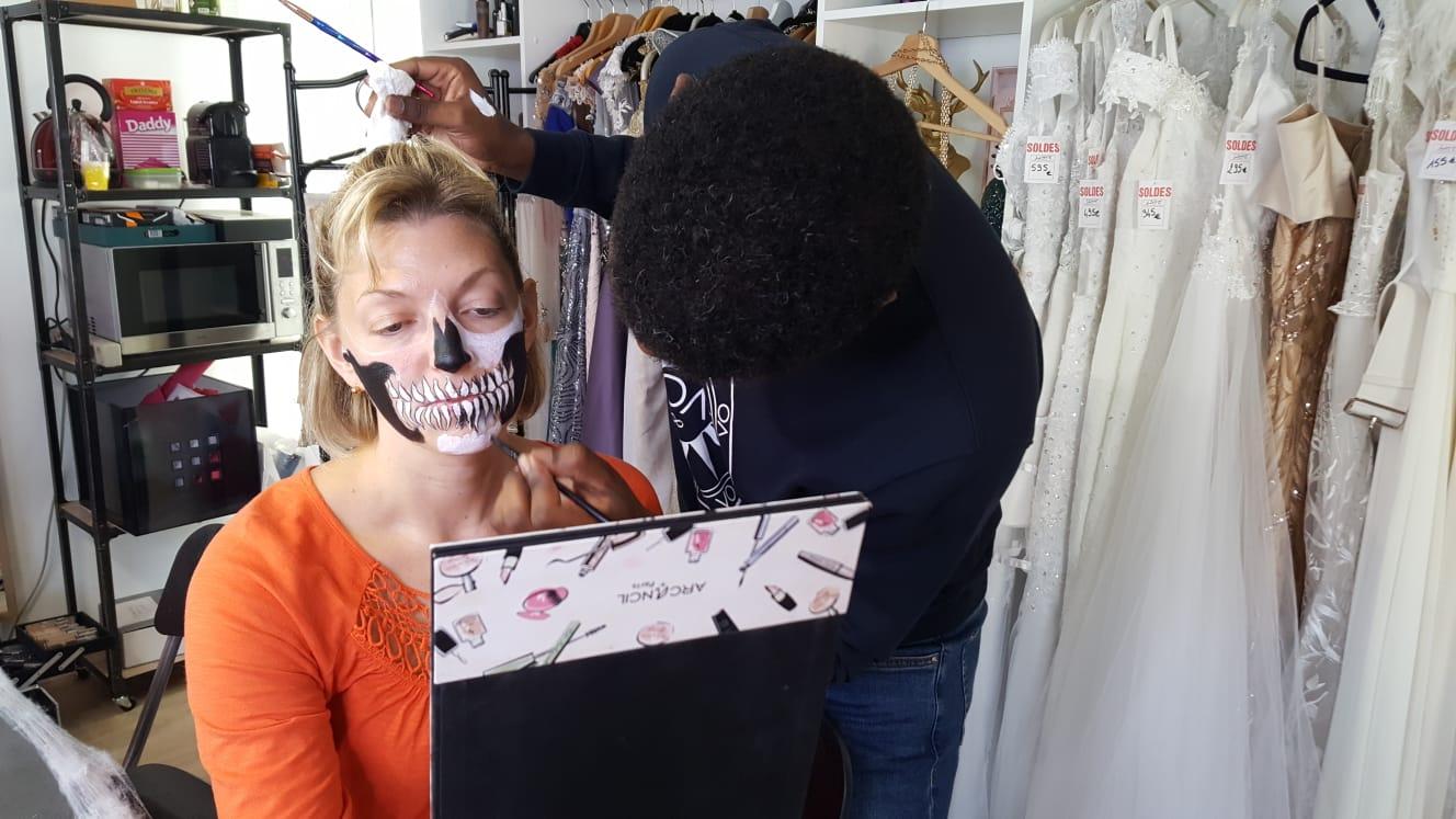 maquillage halloween lyon joanes glow ain crane idée makeup horreur