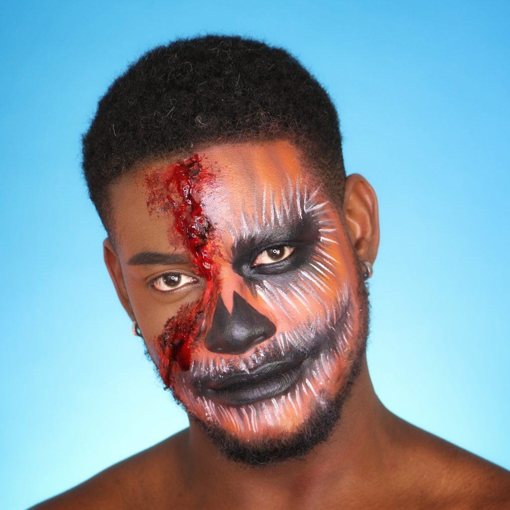maquillage halloween lyon joanes glow ain diable idée makeup horreur